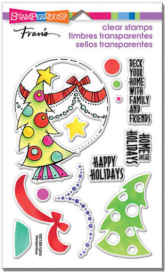 Deck Your Home Perfectly Clear Christmas Stamps