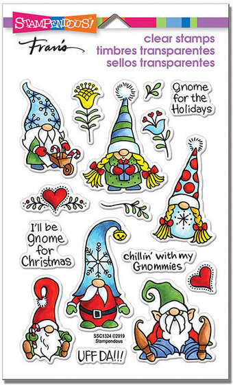 Holiday Gnomes - Christmas Perfectly Clear Stamp