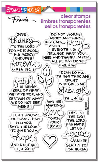 Bible Verses - Christian Perfectly Clear Stamps Set
