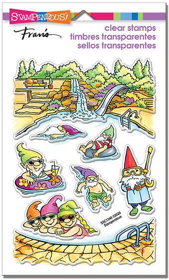 Gnome Pool - Perfectly Clear Stamps