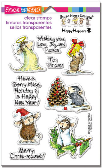 Merry Mice House-Mouse Perfectly Clear Christmas Stamps