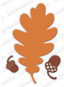 Oak Leaf Outline & Acorn - Impression Obsession Craft Die