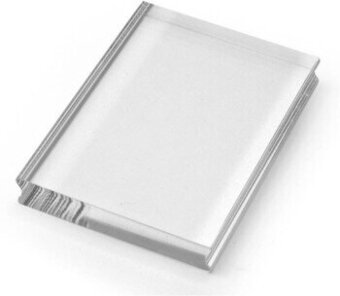 Medium Rectangle Acrylic Handle for Clear Stamps 3 x 4 Inch