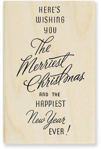 Merriest Wish (Christmas) - Rubber Stamp
