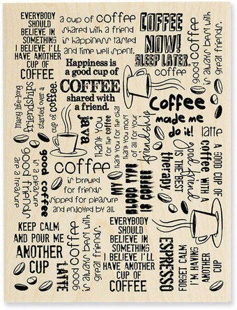 Coffee Background - Rubber Stamp