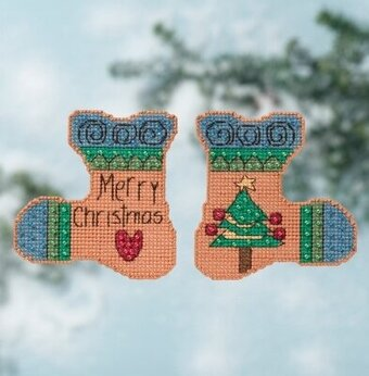 Merry Christmas - Beaded Cross Stitch Kit