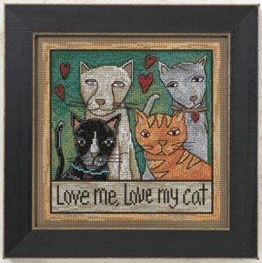 Love Me, Love My Cat - Beaded Cross Stitch Kit