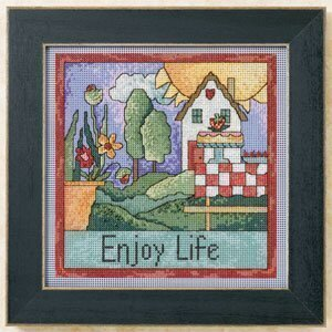 Enjoy Life - Beaded Cross Stitch Kit