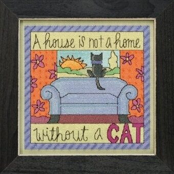 Without a Cat - Beaded Cross Stitch Kit