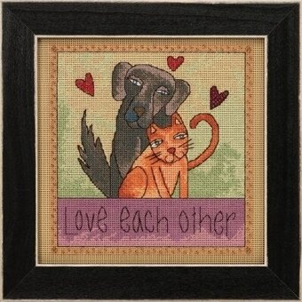 Love Each Other - Beaded Cross Stitch Kit