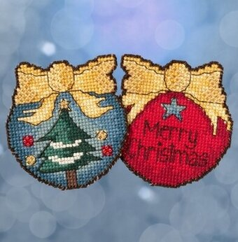 Merry Christmas Tree - Beaded Cross Stitch Kit