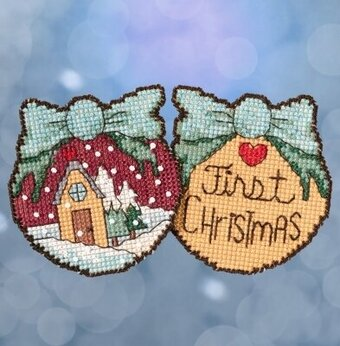 First Christmas Ornaments - Beaded Cross Stitch Kit
