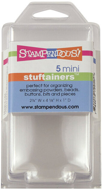 Stampendous Mini Stuftainers (5 pack)