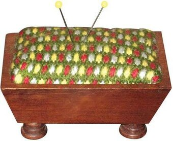 Vintage Pincushion - Mahogany