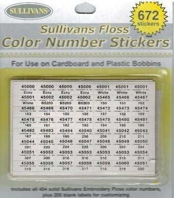 Sullivans Floss Color Number Stickers
