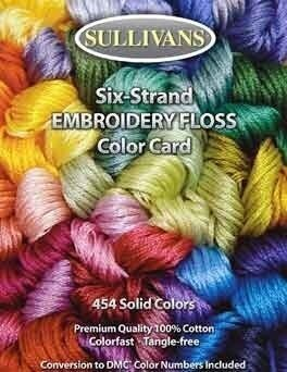 Sullivans Floss Color Card