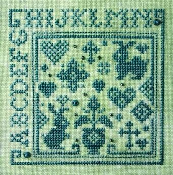 Quaker Alphabet Square I - Cross Stitch Pattern