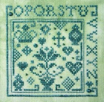 Quaker Alphabet Square II - Cross Stitch Pattern
