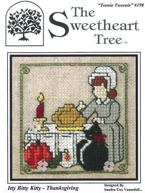 Itty Bitty Kitty - Thanksgiving - Cross Stitch Pattern