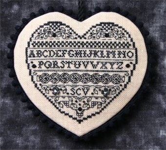 Blackwork Heart - Cross Stitch Pattern