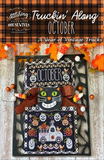 Truckin' Along October - Cross Stitch Pattern