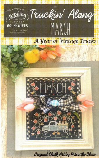 Truckin' Along March - Cross Stitch Pattern