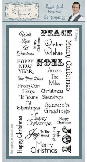 Essential Festive Sentiments - Christmas Clear Stamp