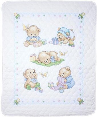 Baby Bears Quilt - Stamped Cross Stitch Kit