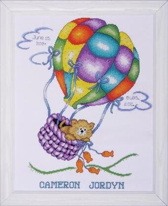 Balloon Cat Sampler - Cross Stitch Kit