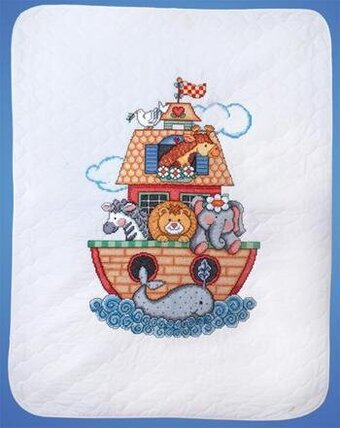 Noah's Ark Quilt - Stamped Cross Stitch Kit