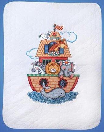 Design Works Noah's Ark Quilt - Stamped Cross Stitch Kit T21716 ... : noahs ark quilt - Adamdwight.com