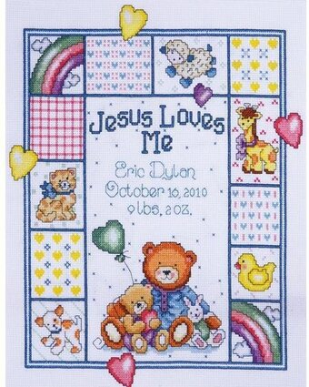 Jesus Loves Me Sampler - Cross Stitch Kit