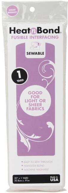 Heat'n Bond Light Weight Iron-On Fusible Interfacing