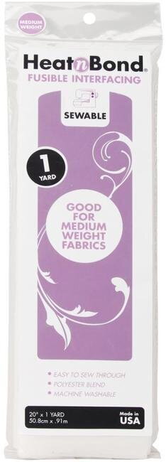 Heat'n Bond Medium Weight Iron-On Fusible Interfacing