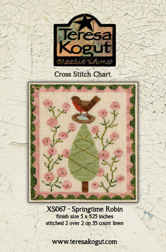 Springtime Robin - Cross Stitch Pattern
