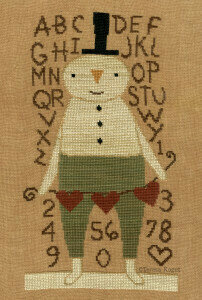 Stu Snowman - Christmas Cross Stitch Pattern