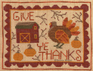 Give Ye Thanks - Thanksgiving Cross Stitch Pattern