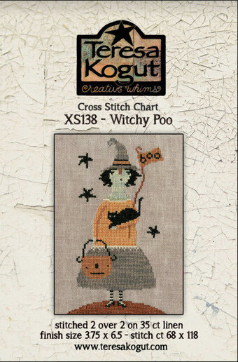 Witchy Poo - Halloween Cross Stitch Pattern