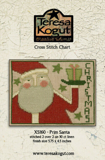 Prim Santa - Christmas Cross Stitch Pattern