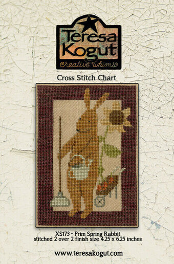 Prim Spring Rabbit - Cross Stitch Pattern