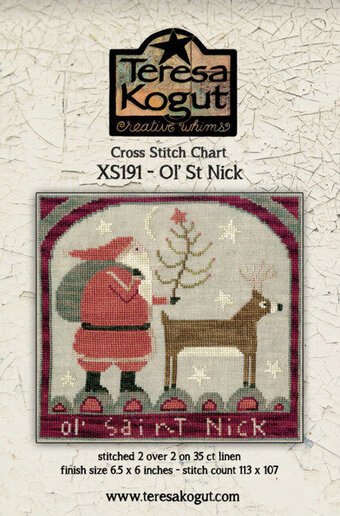 Ol' St Nick - Christmas Cross Stitch Pattern