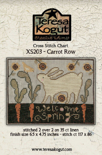 Carrot Row - Cross Stitch Pattern