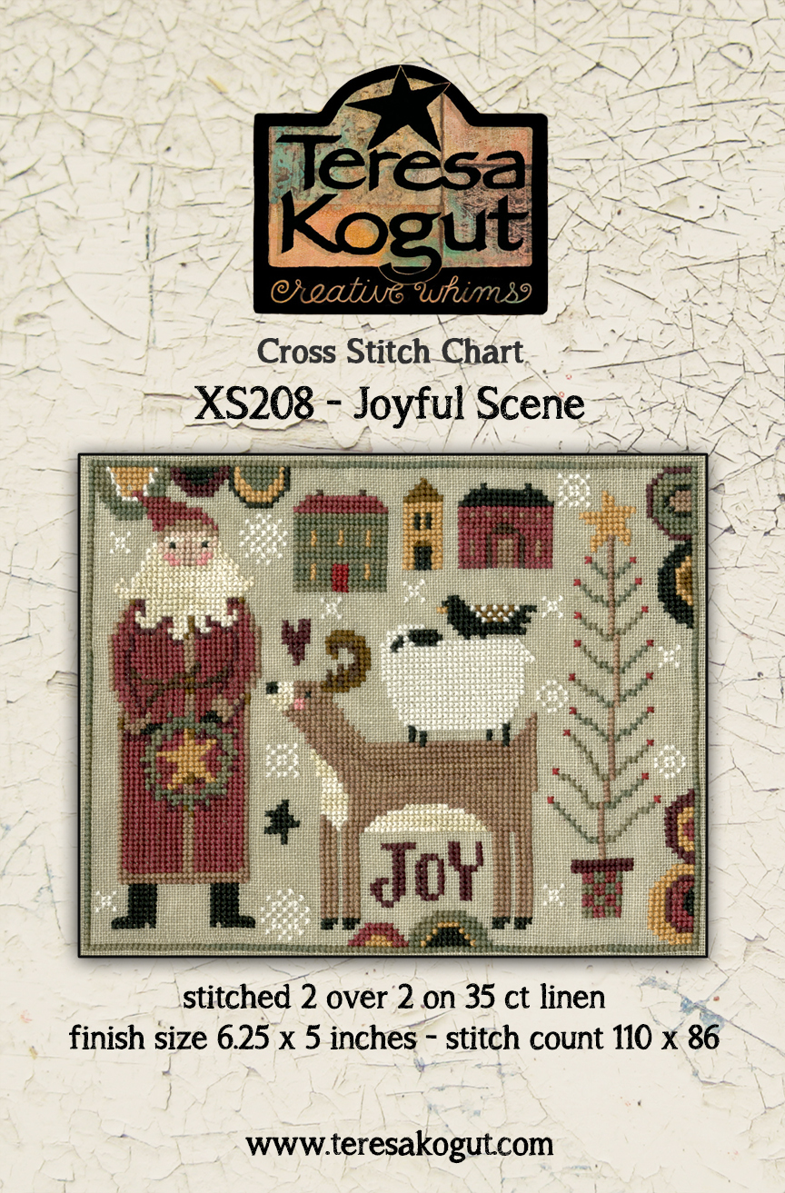 Joyful Scene - Christmas Cross Stitch Pattern