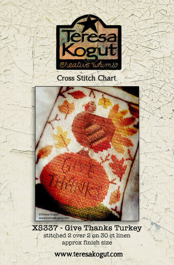 Give Thanks Turkey - Thanksgiving Cross Stitch Pattern