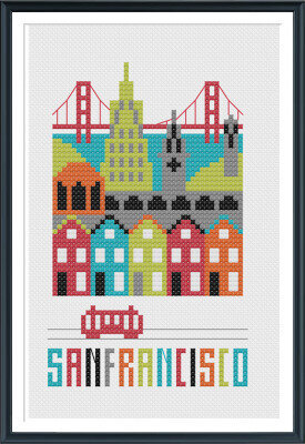 San Francisco - Cross Stitch Pattern
