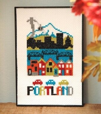 Portland - Cross Stitch Pattern