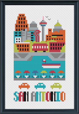San Antonio - Cross Stitch Pattern