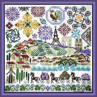 Quakers in France - Cross Stitch Pattern