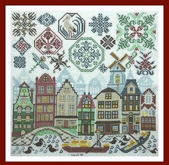 Quakers in Holland - Cross Stitch