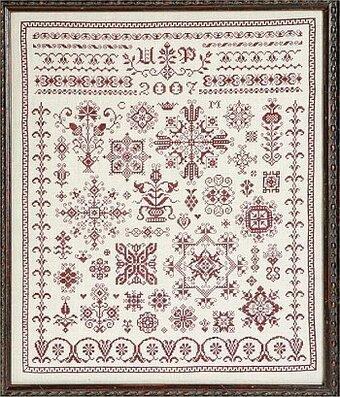 Romy In Austria Austrian Spot Sampler Cross Stitch Pattern